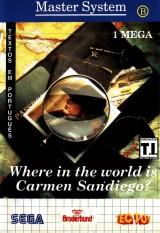 jaquette Master System A La Poursuite De Carmen Sandiego Dans Le Monde