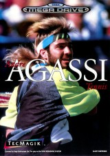 jaquette Megadrive Andre Agassi Tennis