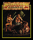 jaquette Commodore 64 Barbarian II The Dungeon Of Drax
