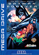 jaquette Megadrive Batman Forever