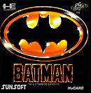 jaquette PC Engine Batman The Video Game