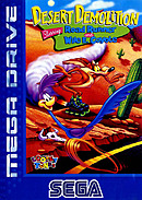 jaquette Megadrive Desert Demolition Starring Road Runner And Wile E. Coyote