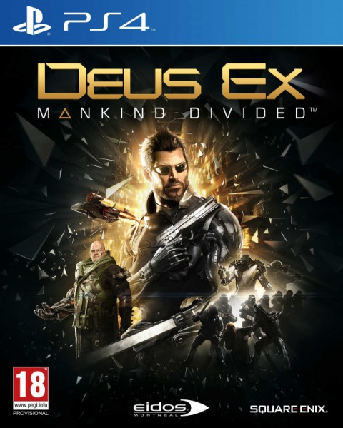 jaquette PlayStation 4 Deus Ex Mankind Divided