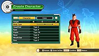 Dragon Ball Xenoverse screenshot creation personnage 8