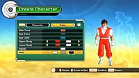 Dragon Ball Xenoverse screenshot creation personnage 9