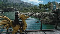 Final Fantasy XV Noctis a dos de chocobo