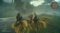 Final Fantasy XV Prompto Argentum et Noctis en chocobo