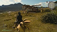 Final Fantasy XV screenshot a dos de chocobo