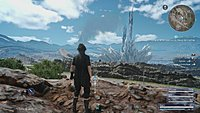 Final Fantasy XV screenshot paysage avec Noctis