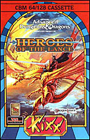 jaquette Commodore 64 Heroes Of The Lance