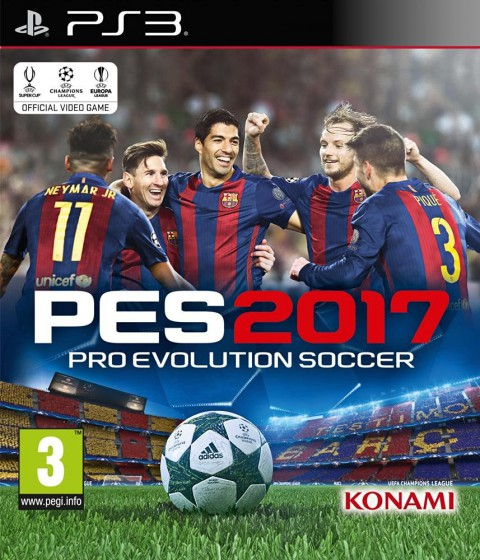 jaquette PlayStation 3 Pro Evolution Soccer 2017