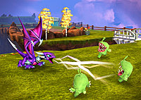 Skylanders Giants Wii Cynder in Wilikin Village