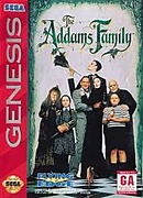 jaquette Megadrive The Addams Family