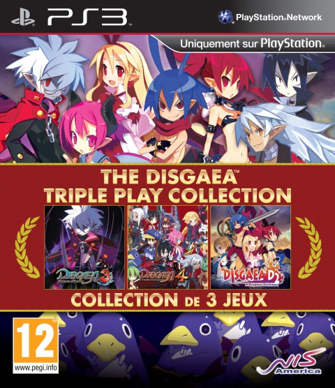 jaquette PlayStation 3 The Disgaea Triple Play Collection