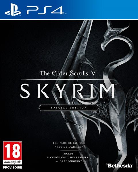jaquette PlayStation 4 The Elder Scrolls V Skyrim Special Edition
