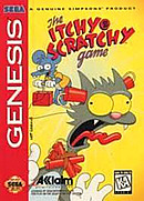 jaquette Megadrive The Itchy Scratchy Game