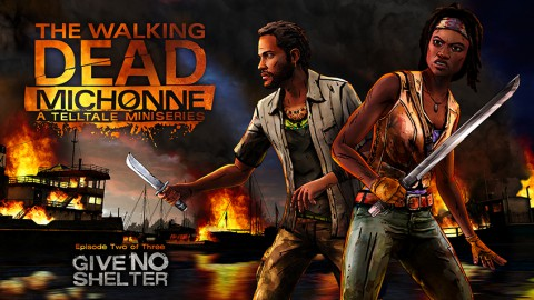 jaquette PlayStation 4 The Walking Dead Michonne Episode 2 Give No Shelter