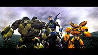 Transformers Prime Wii U screenshot Arcee Bulkhead and Bumblebee