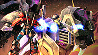 Transformers Prime Wii U screenshot Optimus Prime fights Thunderwing